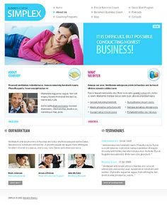 Simplex Business Website Templates by Di