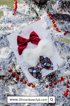 Get 3 absolutely adorable bows - Every month! By signing up TODAY, you will receive the DECEMBER BOWS as pictured, shipping November 30th - December 2nd. Your subscription will renew on December 15th after receiving your first month. Always designed by mamas, using top quality materials for ultimate comfort for your babe. Each set is truly one of a kind and made in limited quantities. We believe that mamas are superwomen, so we employ mamas at every turn possible! Girls Christmas Outfits, Christmas Bows, Christmas Fashion, Christmas Themes, Handmade Christmas, Newborn Bows, Baby Bows, Knot Headband, Headbands