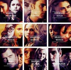 """The Vampire Diaries cast-- I'm sorry I'm laughing because """"papa hybrid"""" X'D"""