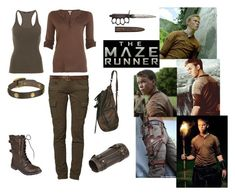 The Maze Runner: Gally by gracenerada on Polyvore featuring polyvore fashion style Splendid Balmain CIMARRON Brinley Co. Frye Abercrombie & Fitch clothing
