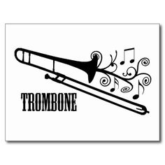 Trombone Vector Design Post Cards | Zazzle
