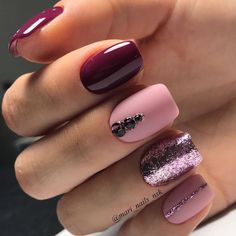 34 Wedding Nail Art Designs You Will Like These trendy Nails ideas would gain you amazing compliments. Check out our gallery for more ideas these are trendy this year. Fancy Nails, Love Nails, Pink Nails, How To Do Nails, Pretty Nails, My Nails, Style Nails, Matte Pink, Nails 2018