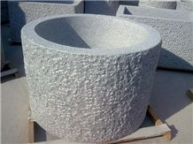 Padang Dark Granite G654 Planters, G654 Grey Granite Planters