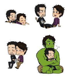 This really cute. Like they're little kids. Tony and Bruce are best buddies :) it's cuz they're both geniuses
