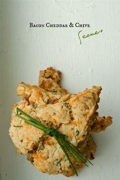 Bacon Cheddar & Chive Scones | CupcakeMAG