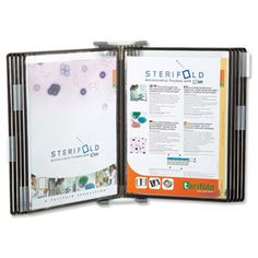 Sterifold Display System Wall-mounted Expandable with 10 Anti-microbial Pivoting Pockets Ref Wall Mount, Locker Storage, Display, My Love, A4, Pockets, Products, Floor Space, Wall Installation