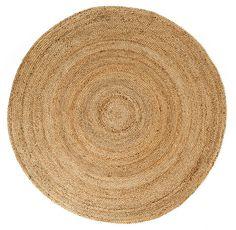 6' x 6' Round Kerala Natural Jute Rug Jute Rug, Woven Rug, Circle Rug, Round Area Rugs, Natural Rug, Natural Brown, Rug Size, Hand Weaving, Walmart