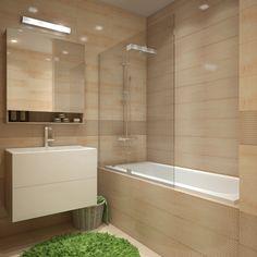 Simple lines, sink vanity, colour scheme
