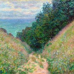 Monet, Sentiero a La Cavée, Pourville (1882)