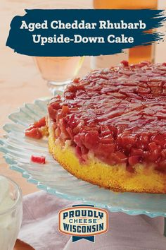 Rhubarb Desserts, Rhubarb Cake, Rhubarb Recipes, Köstliche Desserts, Delicious Desserts, Baking Recipes, Cake Recipes, Dessert Recipes, Rhubarb Upside Down Cake