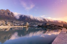 These serene tidal pools offer safety, seclusion and scenic surrounds. Best of all, they don't need top-ups from the city's water supply. Cape Town South Africa, Tide Pools, Where To Go, The Good Place, City, Places, Natural Pools, Travel, Ponds