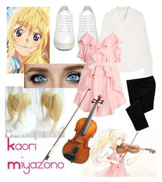 Kaori Miyazono; Your Lie in April by fem-satan on Polyvore featuring polyvore, beauty, Vanessa Bruno, Alice McCall, Old Navy and Off-White