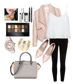 """""""Nude"""" by jamslzr on Polyvore featuring Zizzi, River Island, Alice + Olivia, Bobbi Brown Cosmetics, Maybelline, Ted Baker, WithChic, women's clothing, women and female"""