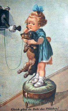 Dachshund misses you too Vintage Dachshund, Dachshund Art, Daschund, Dog Love, Puppy Love, Cute Puppies, Cute Dogs, Delphine, Weenie Dogs