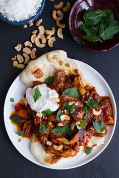 Saucy Indian Spiced Chicken with Naan | halfbakedharvest.com