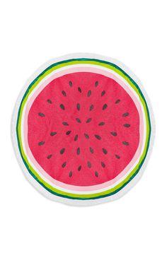 Primark - Pink Round Watermelon Towel