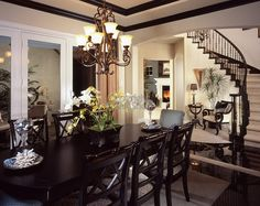 Beautiful New Dinning Rooms Furniture Dinning Room Interior Design Stock Photo Stock Photo Image
