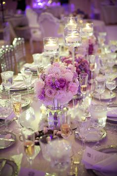 Regally Elegant Purple Maryland Wedding from Eli Turner Studios - wedding centerpiece idea
