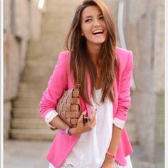 Frenchi For Nordstrom Pink Blazer