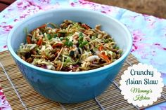 Mommy's Kitchen - Home Cooking & Family Friendly Recipes: Crunchy Asain Slaw {Oriental Coleslaw} #bbq #summersalad #salad