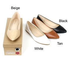 New Womens Leather Lined Pointy Toe Ballet Flat Shoes Loafers Comfort Formal #None #Stylishchicmoderncasualflats