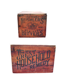 Vintage bitters packaging | Mishler's Bitters Shipping Crate – Meyer Collection
