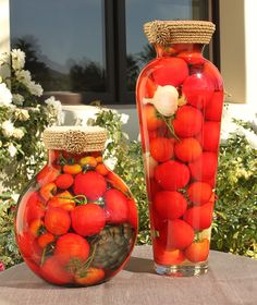 Decorative Vegetable Jars Italian Vinegar Bottles Decor  Kitchen Inspiration  Pinterest