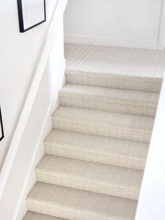 Stanton Carpet Stair Update – White Lane Decor – Muriel L. House Home Carpet Staircase, Hallway Carpet, Basement Carpet, Bedroom Carpet, Living Room Carpet, Best Carpet For Stairs, Wood And Carpet Stairs, Grey Stair Carpet, Carpet Stair Treads