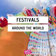 The best festivals around the globe. All of the best festivals to travel and enjoy around the world. World Festival, Festivals Around The World, Music Festivals, Globe, Around The Worlds, Good Things, Spaces, Travel, Speech Balloon