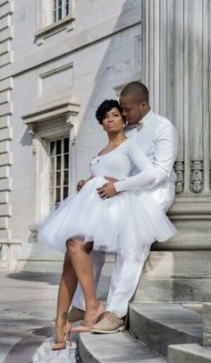 African American wedding engagement photos