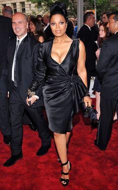 Janet Jackson in Lanvin — 2010 Met Costume Institute Gala Jo Jackson, Jackson Family, Michael Jackson, Janet Jackson Unbreakable, Bust A Move, Vintage Black Glamour, The Jacksons, Costume Institute, Little White Dresses