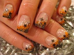 autumn acrylic nails | ... nails acrylic. It is called Hologram. It works super good in a fade