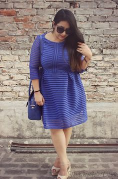 The Shopaholic Diaries - Indian Fashion, Shopping and Lifestyle Blog !: OOTD - From The Disguised Folder | Feeling Blue