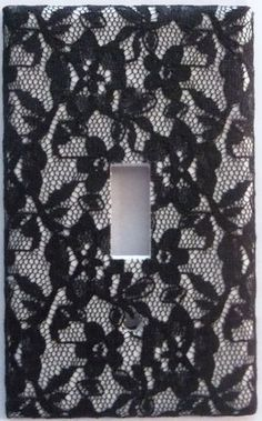 Floral Black Lace Light Switch Outlet Plate Cover Sexy Bedroom Flower Wall Decor Super easy to make Switch Plate Covers, Light Switch Plates, Light Switch Covers, Gothic Home Decor, Diy Home Decor, Gothic Bedroom, Diy Bedroom, Girls Bedroom, Bedrooms