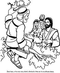 Zacchaeus Free Coloring Pages   Pinteres