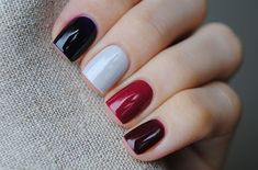 Fall Nail Designs, Autumn Nail Arts, Autumn nails are just as versatile as other seasons, give these ideas a try this season , you will love Burgundy Nails, Blue Nails, White Nails, Red Burgundy, Oxblood Nails, Magenta Nails, Nails Polish, Coffen Nails, Super Nails