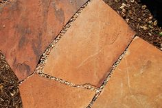 Flagstone with gravel