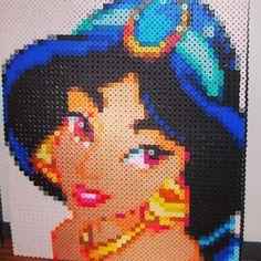 Princess Jasmine perler beads by thats_dope1