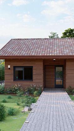 Minimal House Design, Modern Villa Design, Unique House Design, House Gate Design, Village House Design, Modern Bungalow House, Modern House Plans, Home Building Design, Building A House