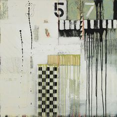 "Judy Campbell. Frontrange  48"" x 48""   mixed media on canvas"