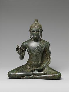 Seated Buddha Expounding the Dharma, Sri Lanka, late 8th century, copper alloy