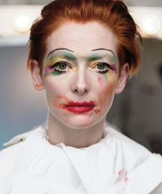 """Painting your own face ain't easy, Tilda."""