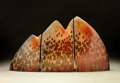 Cathi Jefferson's mountain forest triptych. Cathi Jefferson was featured in the February 2015 issue of Ceramics Monthly. http://ceramicartsdaily.org/ceramics-monthly/ceramics-monthly-february-2015/