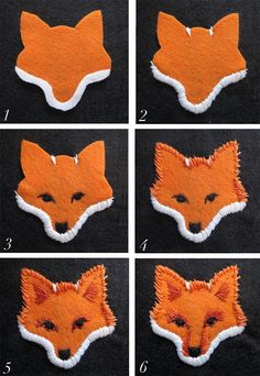 Most current No Cost Embroidery Patches how to make Style Filz-Fuchs besticken-Anleitung zum Herbst-Basteln – Claudia Fox Embroidery, Embroidery Patches, Embroidery Patterns, Felt Patterns, Fabric Crafts, Sewing Crafts, Sewing Projects, Fox Slippers, Felted Slippers