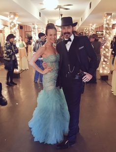 Dominique Provost-Chalkley and Tim Rozon