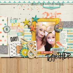 Layout using:  Storyteller 2016 :: Sketched Templates - August Add-on by Just…