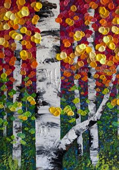 Aspen tree art painting, Birch Tree Painting, Birch Tree Art, Art of Alberta…