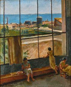 Richard Maguet, L'Atelier de la villa Abd-el-Tif, 1934, collection privée Ecole d'Alger