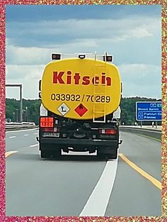 Kitsch Truck spotted on the Autobahn - bekitschig.blog Berlin - Your go to place for odd, quirk & kitschy stuff - Join me on this kitschig journey! Kitsch, Berlin, About Me Blog, Journey, Trucks, Instagram, The Journey, Truck, Cars