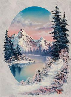 bob ross winter paradise oval More